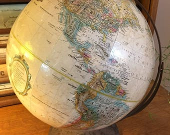 "Vintage 12"" Replogle World Classic Series Globe from 1960s"