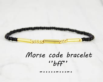 Morse code bracelet bff bracelet for girls friendship bracelet for best friend bracelet minimalist bracelet message bracelet word bracelet