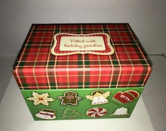 Hallmark Christmas Recipe Box With Sealed Christmas Recipe Cards & Dividers