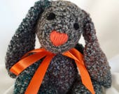 Crochet bunny, Gray colored Rabbit toy, Fuzzy stuffed Bunny, Easter Bunny,