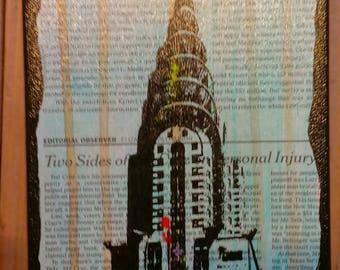 Chrysler Building  6x12 in.
