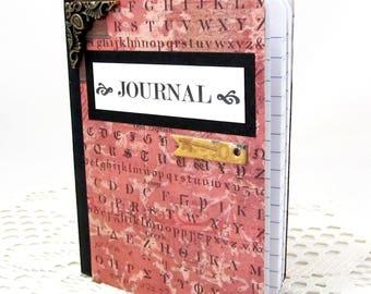 Small Steampunk Journal - Steampunk Mini Journal - Vintage Mini Journal - Small Notebook - Pocket Journal - Pocket Notebook - Blank Book