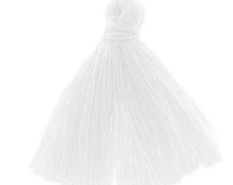 30mm white cotton tassel