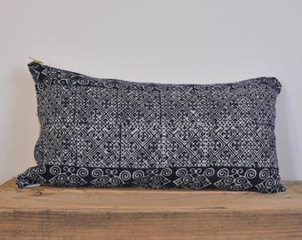 Authentic Chinese Hmong Fabric Lumbar pillow