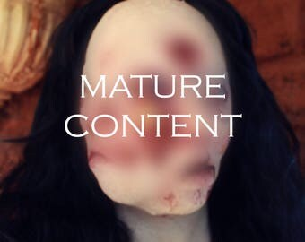 Two Face Mutant - Horror Latex Mask - Mature Content