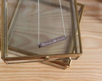 Fira necklace 925 sterling silver rectangle