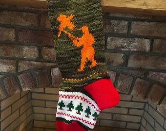 Camo Hunter Christmas Stocking