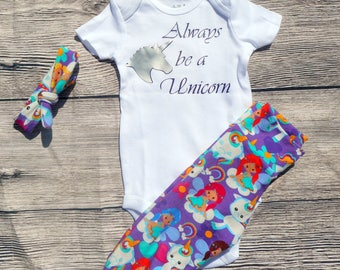 Unicorn and Fairy Themed Going Home Outfit Baby Set