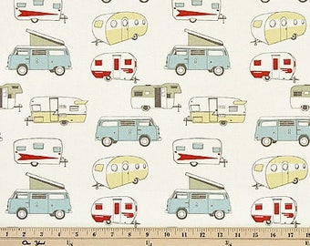 Camper fabric by the BOLT vintage retro classic Premier Prints Formica Macon Home Decor upholstery curtains pillow drape runner 30 yards!