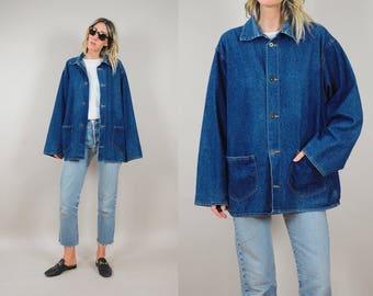 60's Oversized Denim Chore Coat