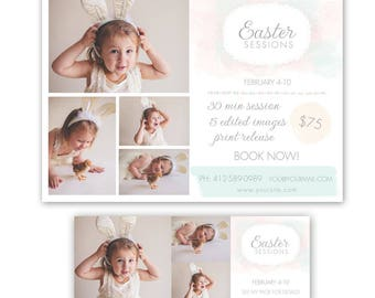 Easter Mini Session Template, mini session template, photography marketing template, free timeline cover template