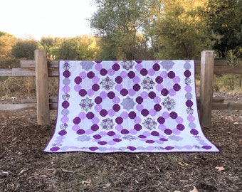 Sweet As Honey Quilt Kit, featuring prints from Gloaming by Shelley Cavanna of Cora's Quilts for Contempo Fabrics by Benartex