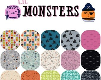 Half Yard Bundle (16) LIL MONSTERS Collaborative by Cotton and Steel Half Yards