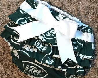 New York Jets Ruffle Diaper Cover