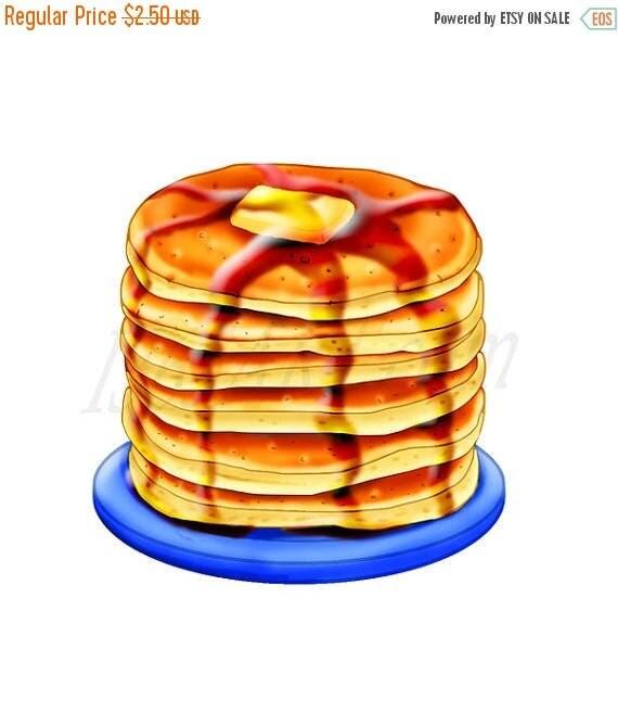 50% OFF Pancake Clipart Pancake Clip art Breakfast clipart