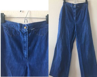 vintage 70's BLUE BELL BOTTOMS - high rise, highwaisted, small, medium