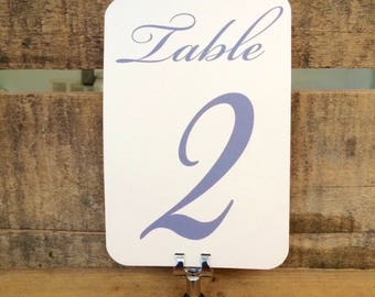 Blush Table Numbers