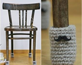 Black mustache, Chair socks, Floor protector, table legs cover, chair leg socks, table socks, cozy legwarmer, Whiskers, Eco-friendly gift