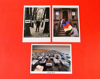 "3 4 1/4"" x 6"" Postcards Club Bed Moving Men + Untitled (Trees) Broden Dowling Abranowicz"
