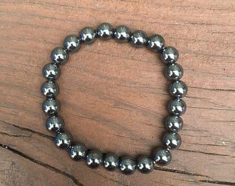 Hematite Beaded Bracelet
