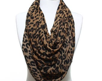 Leopard Print Woman Scarf Lightweight Womens Fashion Accessory Valentine's Day Mother's Day Gift Ideas For Her Mom Girlfriends