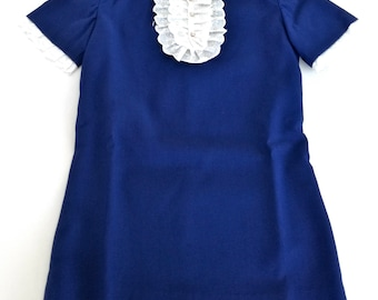 Dress child (6-7 years) vintage made in Italy, 1960s