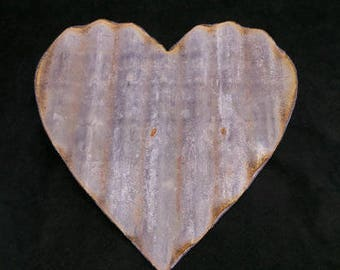 Large Corrugated Metal Heart Set of 3 or Set of 6