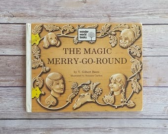 The Magic Merry Go Round Fun Christian Book V Gilbert Beers Youth Christian Book Carousel Book Circus Theme Woodcarver Story Children's