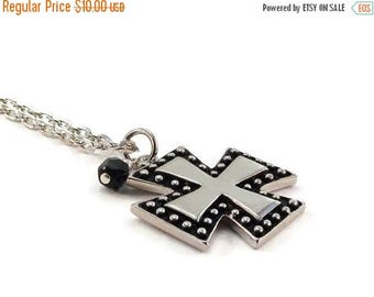 SALE Cross Necklace Silver Chain