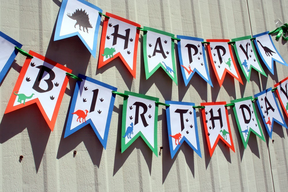 Dinosaur Birthday Party Banner Dinosaur Party Decorations Primary