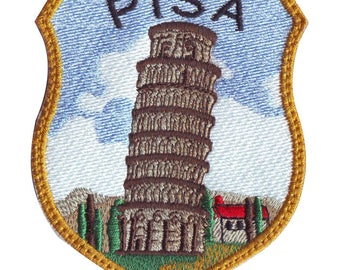 Pisa Italy (B) Embroidered Sew On Patch