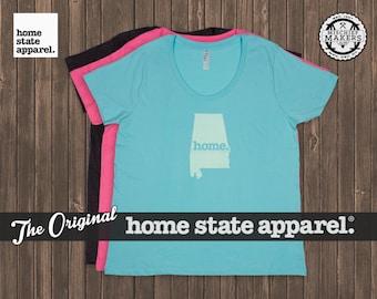 Alabama Home. T-shirt- Women's Curvy Fit