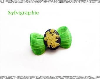 Kawaii green synthetic hair clip