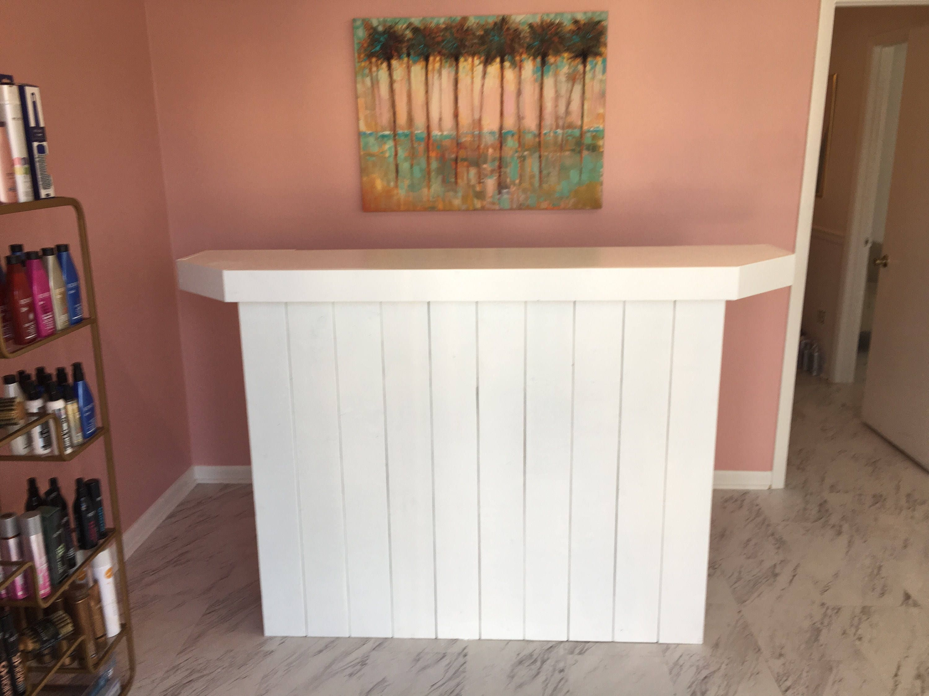 The Ethan - Durable rustic pallet look sales counter, reception ...