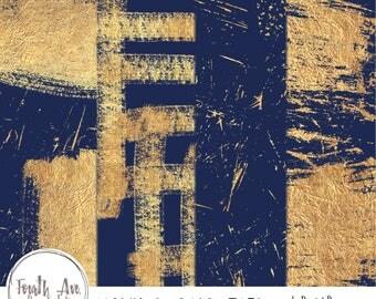 Navy and Gold Foil Digital Paper, Navy Digital Paper, Blue and Gold Digital Paper, Gold Foil, Grunge, Digital Background, Digital Paper