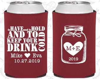 Wedding Favor Can Coolers To Have And Hold Personalized