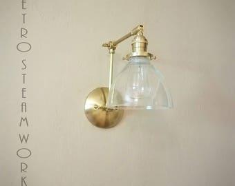 Adjustable Articulating Wall Mount Darkened Brass Art Light Loft & Gallery Sconce Lamp