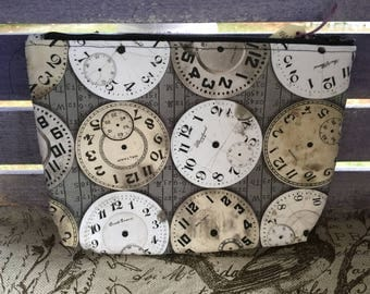 Clock Flared Make-up Bag