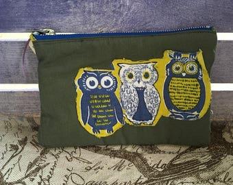 Trio Blue Owls Pickwick Flightsuit bag