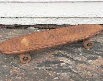 Hobie Super Surfer Wooden Skateboard Wood 1960s