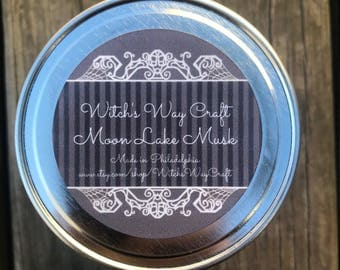 Moon Lake Musk Scented Soy Candle // Aromatherapy Candle // Spa Day // Essential Oils