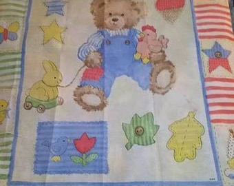 Teddy Bear Quilt Panel
