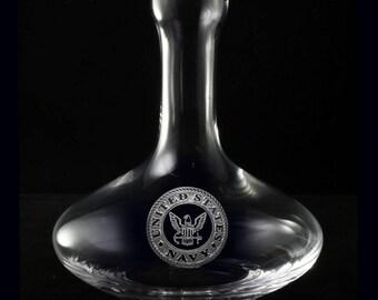 Navy Wine Decanter