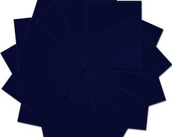 "Pre-cut Sheets Solid Color Heat Transfer Vinyl - Navy - 15 sheets -10""x12"""