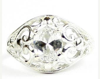 On Sale, 30% Off, Cubic Zirconia, Sterling Silver Ladies Ring, SR111