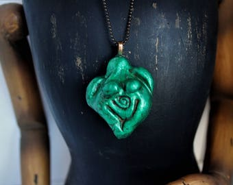 Clay Goddess Necklace