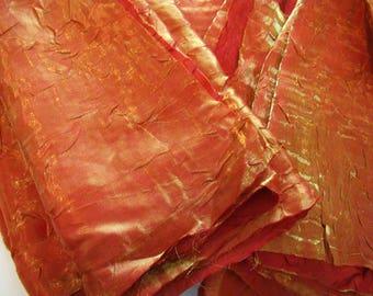 Vintage orange fabric squares, vintage orange fabric, 15 orange fabric squares