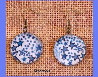 Earrings liberty adelajda blue 25 mm