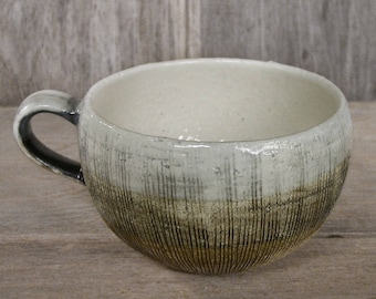 Coffee Cup, Japanese Ceramics, Japanese Pottery, Coconut Cup, Handmade Ceramic Coffee Cup, Stoneware, Made In Japan.