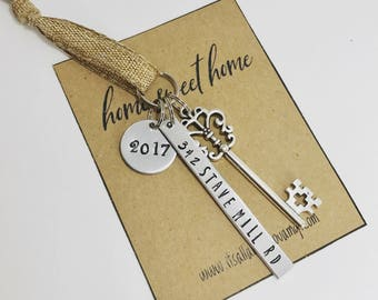 New Home Ornament - New Home Key Ornament - Our First Home Ornament, Realtor Closing Gift, Housewarming gift, Our first Christmas ornament